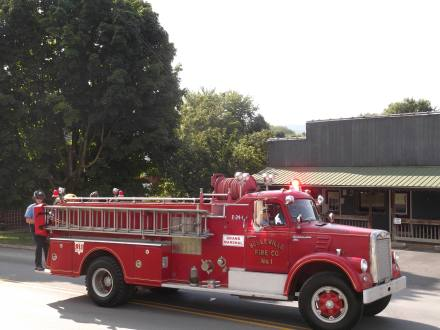 Engine 101 leading the parade