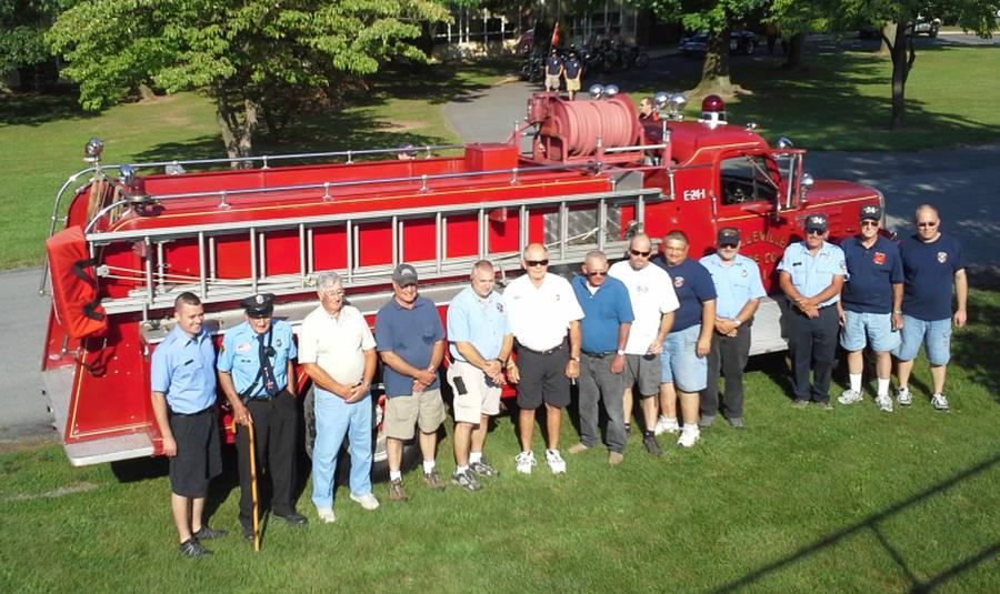 BFC members who rode Engine 101 during its 30 years of service