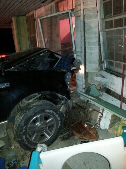 Vehicle into house