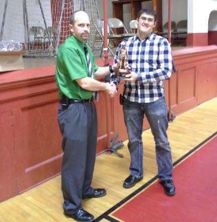 Chief's Award received by Jalon Zook