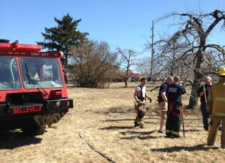 Engine 24-1 at the brush fire