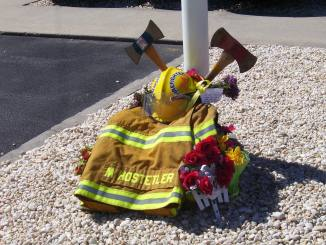 Memorial - Anthony Hostetler's fire uniform