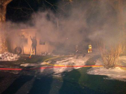 Allensville fire in progress
